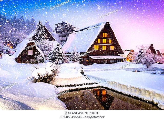 Shirakawago, Japan historic winter village