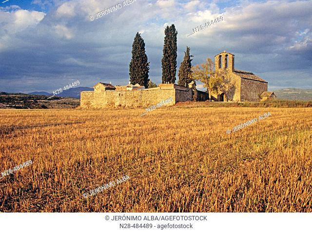 Romanesque chapel of Nuestra Señora del Llano. Roda de Isábena. Ribagorza. Huesca province. Aragon. Spain