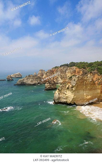Cliffs at the Praia do Vau next to Praia da Rocha, Algarve, Portugal, Europe