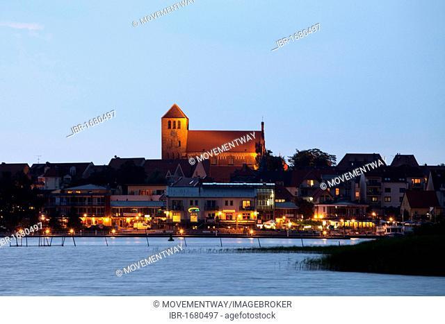 St. George's Church above Waren on Lake Mueritz, Mecklenburg Lake District, Mecklenburg-Western Pomerania, Germany, Europe