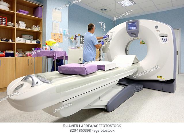 CAT, Computarized Axial Tomography, Radiology Department, Donostia Hospital, San Sebastian, Donostia, Gipuzkoa, Basque Country, Spain