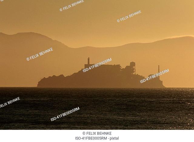 Silhouette of Alcatraz Island