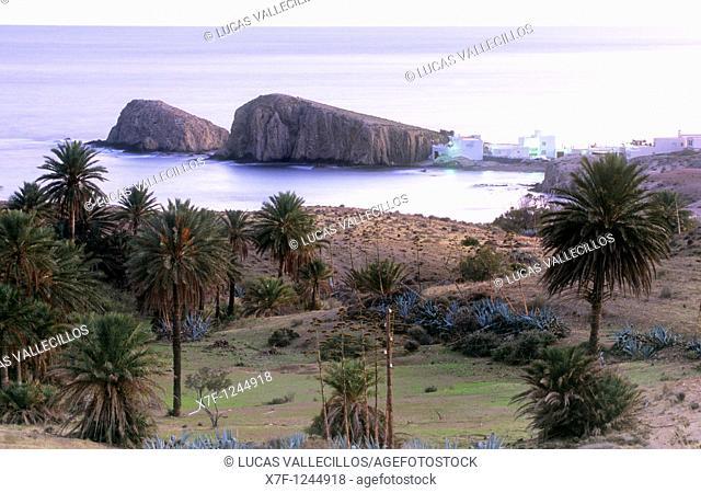 La Isleta del Moro  Is a fishing village  Cabo de Gata-Nijar Natural Park  Biosphere Reserve, Almeria province, Andalucia, Spain