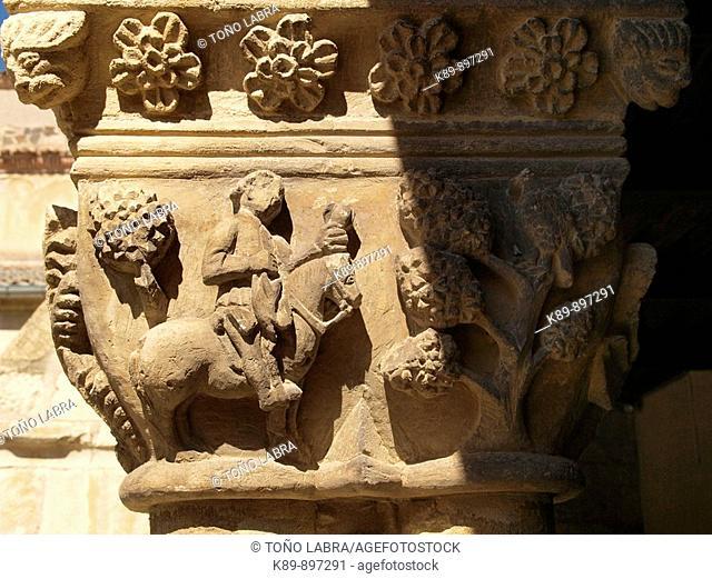 Monasterio de Santa María La Real de Nieva. Provincia de Segovia, Castilla, España
