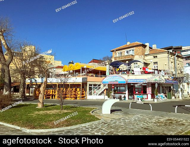 Pomorie, Bulgaria - Pomorie Is A Town And Seaside Resort In Southeastern Bulgaria, Located On A Narrow Rocky Peninsula In Burgas Bay On The Southern Bulgarian...