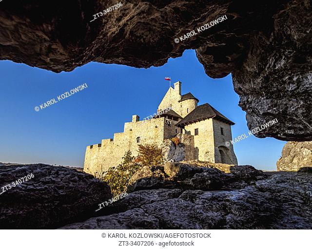 Bobolice Royal Castle, Trail of the Eagles' Nests, Krakow-Czestochowa Upland or Polish Jurassic Highland, Silesian Voivodeship, Poland