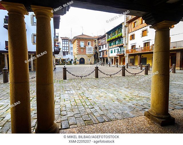 Gipuzkoa square. Hondarribia. Gipuzkoa, Basque Country, Spain, Europe