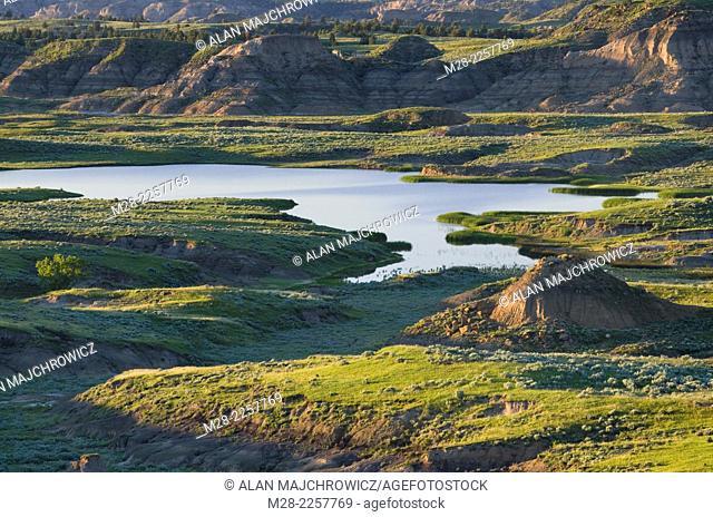 Badslands coulees near Hell Creek Montana