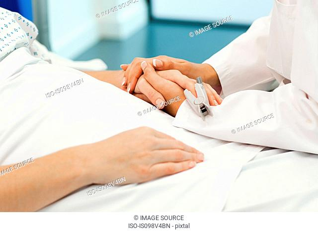 Female patient with doctor