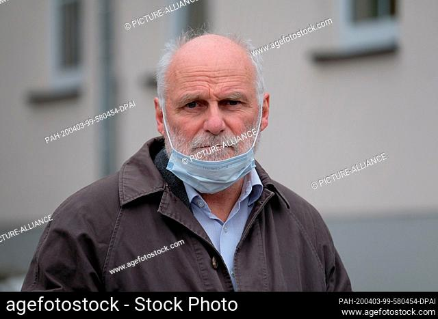 03 April 2020, Saxony, Zwönitz: Rainer Sonntag, Director of the Diakonisches Werk in the church district of Aue. He is responsible for the nursing home...
