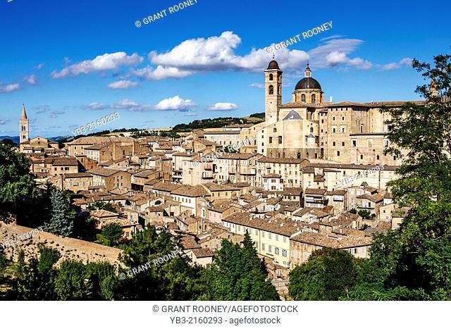 The Walled City of Urbino, Le Marche, Italy