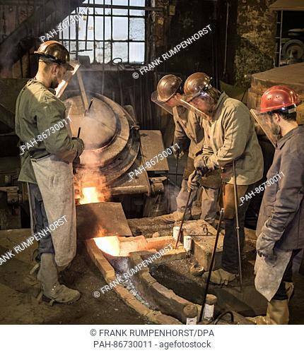 Furnace in bronze foundry Stock Photos and Images | age