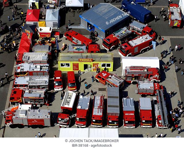 DEU, Federal Republic of Germany, Hannover : Hannover fairgrounds. Interschutz, world biggest exhibiton for fire services, emergency help and disaster managment