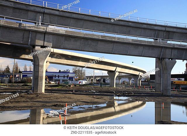 Canada Line ALRT construction in Richmond, British Columbia