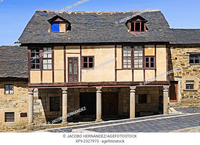Traditional house. Puebla de Sanabria.Zamora province.Castilla y Leon.Spain