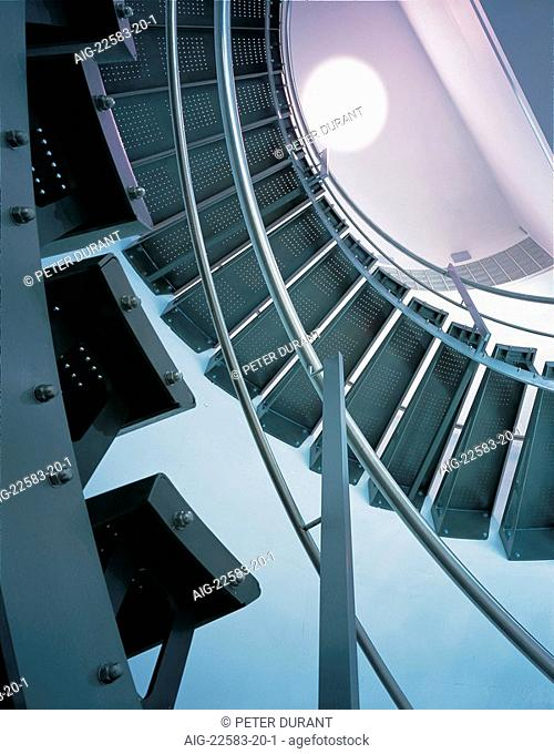 Nissan Design Europe, London. Stair detail. Architect: Tate and Hindle Design Ltd
