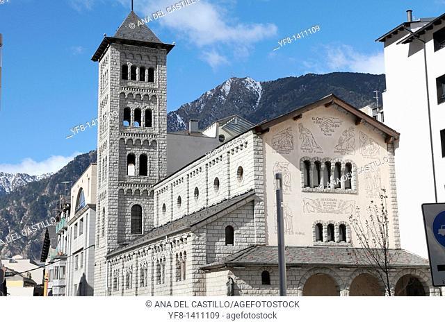 Neo romanesque church Les escaldes Andorra country Europe