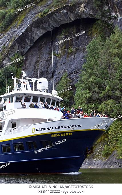 The Lindblad Expeditions ship National Geographic Sea Bird operating in Misty Fjord National Monument, USA