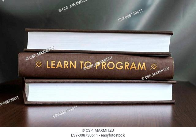 Learn to program. Book concept