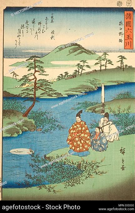 Author: Utagawa Hiroshige. The Noji Jewel River in Omi Province (Omi Noji), from the series - - Six Jewel Rivers in the Various Provinces (Shokoku Mu Tamagawa)...