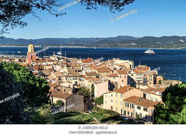 France, Cote d' Azur, Saint Tropez, Clock tower
