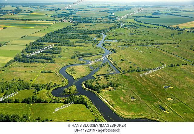 Kamien Pomorski, meandering river, West Pomerania Province, Poland
