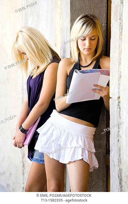 Two attractive female students