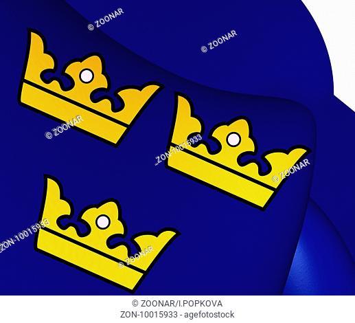 Three Crowns. National Emblem of Sweden