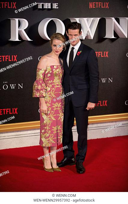 World Premiere of new Netflix Original series 'The Crown' at Odeon Leicester Square Featuring: Matt Smith and Claire Foy Where: London