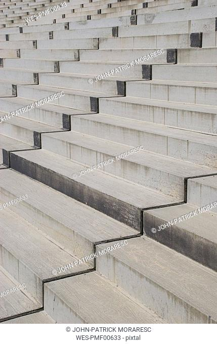 Concrete steps, full frame, close up