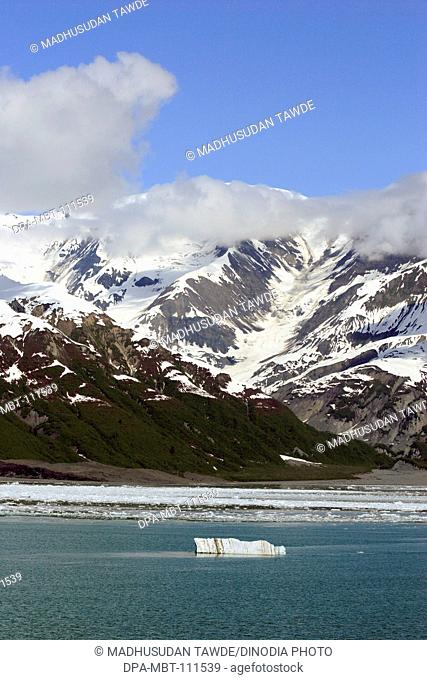 Hubbard glacier; The longest tidewater glacier in Alaska ; Saint Elias  national park ; Disenchantment bay ; Alaska ; U.S.A. United States of America