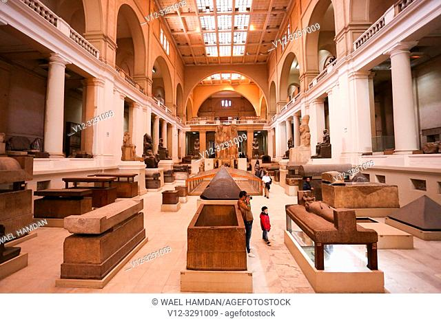 inside view of egyptian musuem in cairo