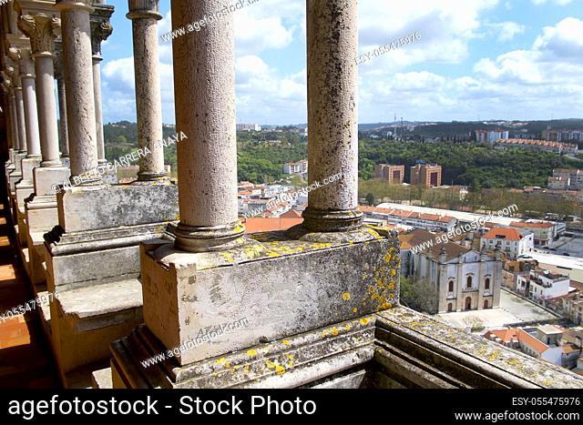 Leiria view from Leiria Castle, Leiria, Portugal, Europe