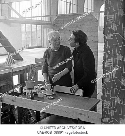Ein Sack voll Kleingeld, Fernsehfilm, Deutschland 1960, Regie: Gerlach Fiedler, Darsteller: Hans Clarin (rechts)