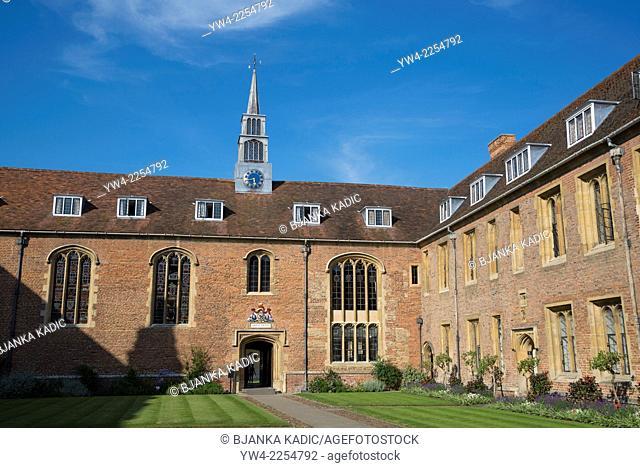 Magdalene College, Court, Cambridge, England, UK