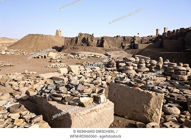 Excavations on Elephantine Island, Aswan, Egypt