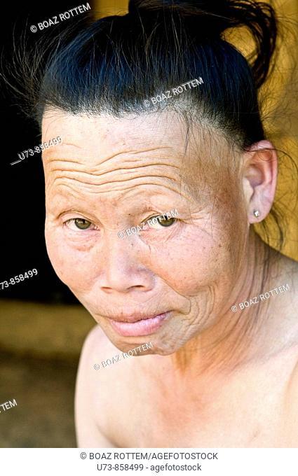 Portrait of a Yao Lantern woman