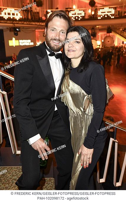 Andreas Pietschmann and Jasmin Tabatabai at the Aftershow Party of the German Film Prize 2018 in the Palais am Funkturm. Berlin, 27.04