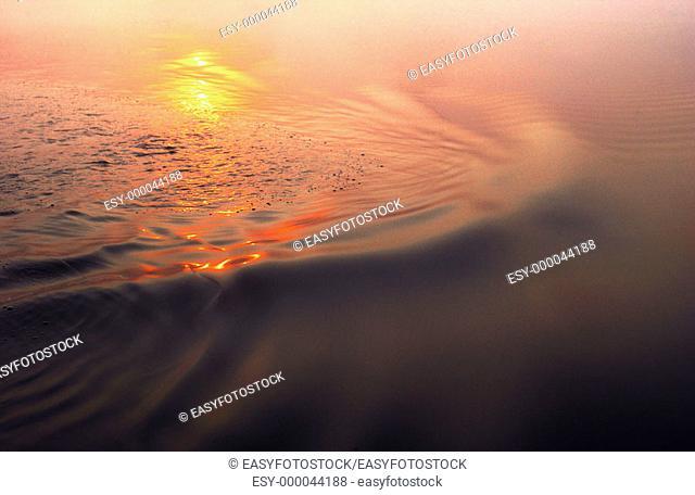 Lake of the Woods at sunrise