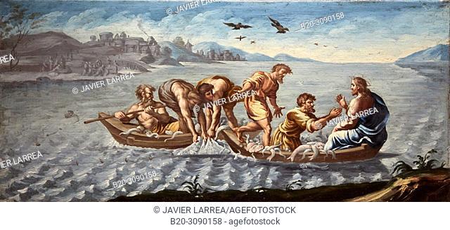 Miraculous catch of fish, 1791-1792, Fray Manuel Bayeu y Subias, Catedral de Jaca, Diocesan Museum, Museo Diocesano, Jaca, Huesca province, Aragón, Spain