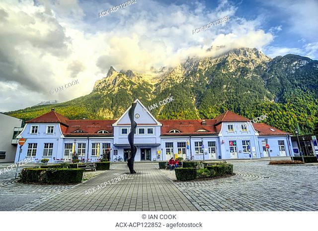 railway station, Mittenwald, Bavaria, Germany