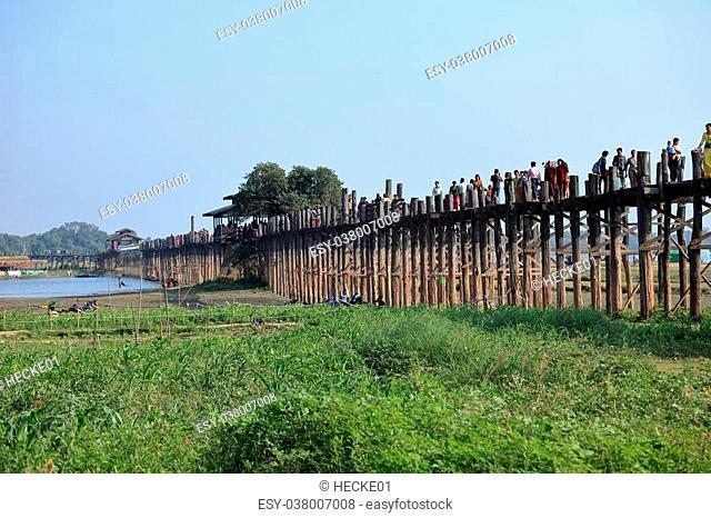 The U Bein Bridge in Myanmar