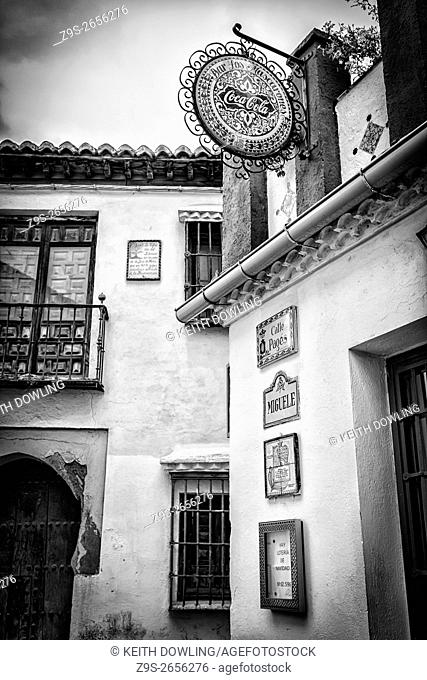 Streets of Granada, Andalucia, in Southern Spain