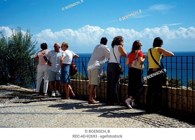 Tourists at point of view Altea Costa Blanca Spain
