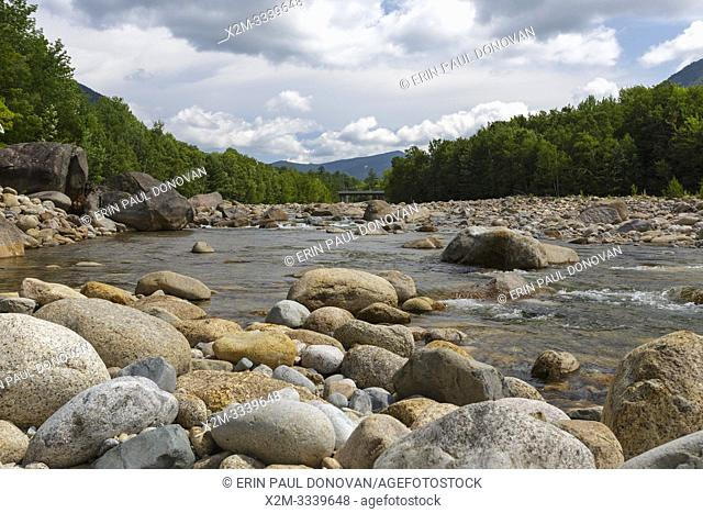 The East Branch of the Pemigewasset River in Lincoln, New Hampshire. near the Loon Mt. Bridge