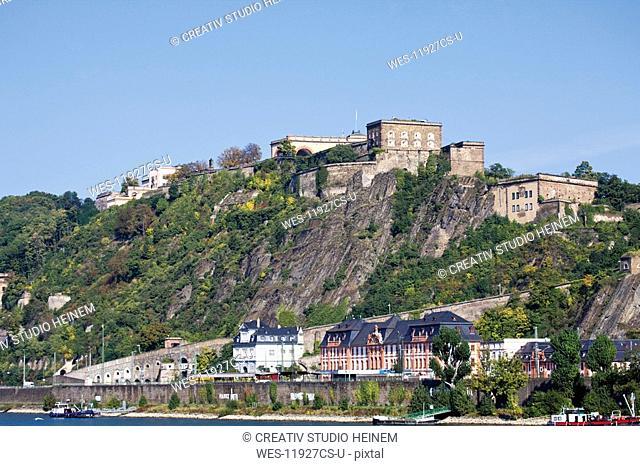 Germany, Rhineland-Palatinate, Koblenz, Fortress Ehrenbreitstein