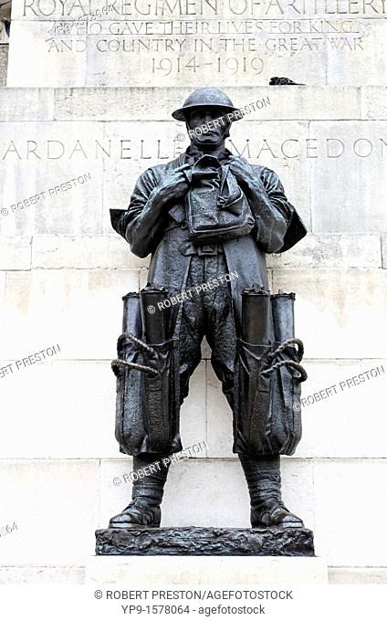 The Royal Artillery War Memorial, Constitution Hill, London, UK
