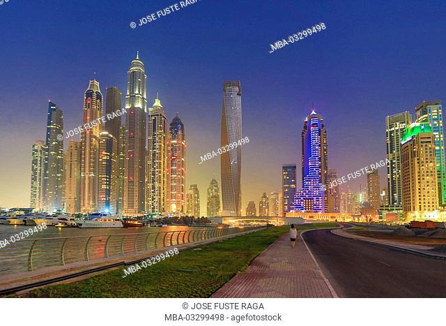 View at the skyline of Dubai