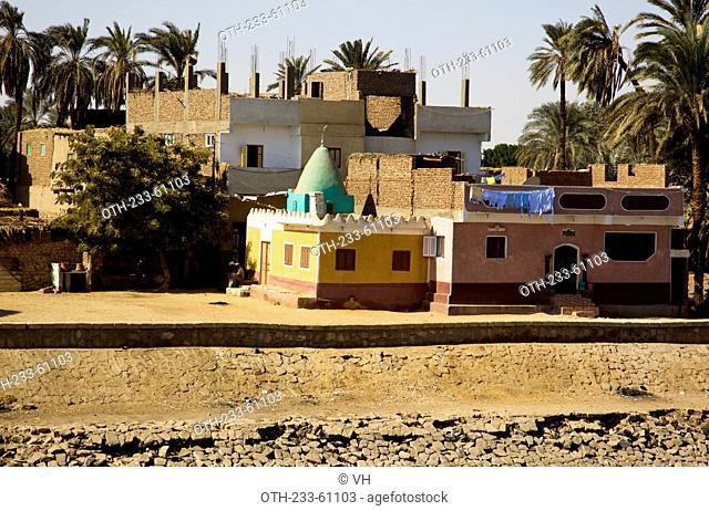 Residence along the river bank of River Nile, Egypt