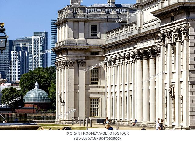 The University Of Greenwich and Canary Wharf, London, United Kingdom